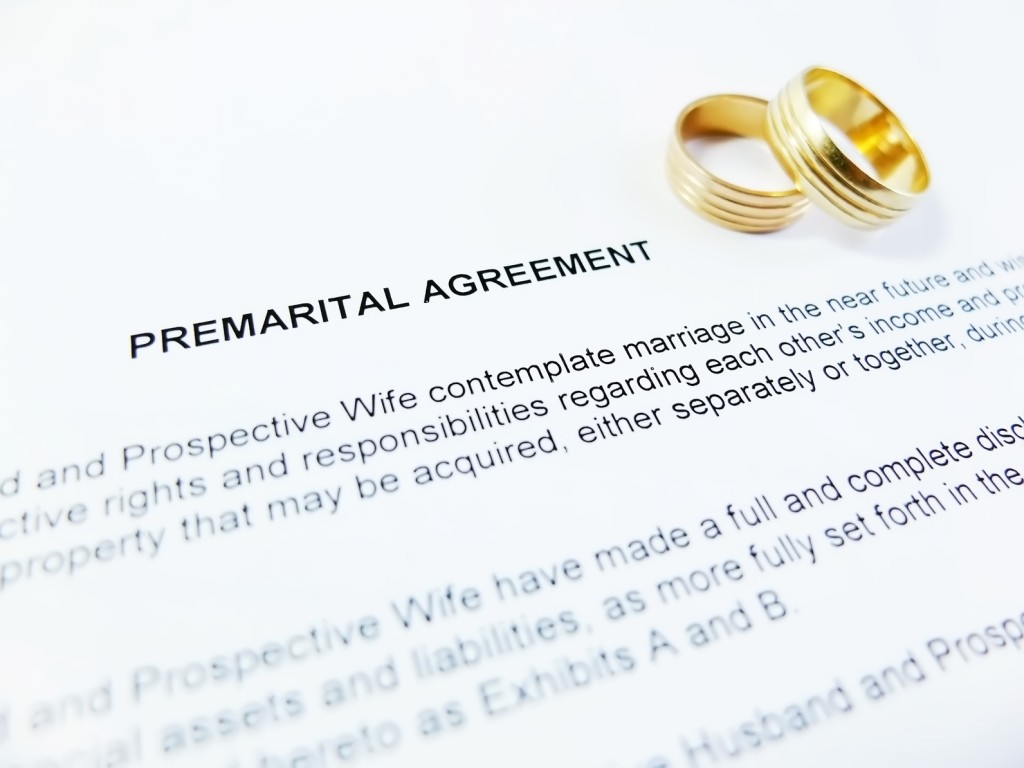 Premarital Agreement with Wedding Rings